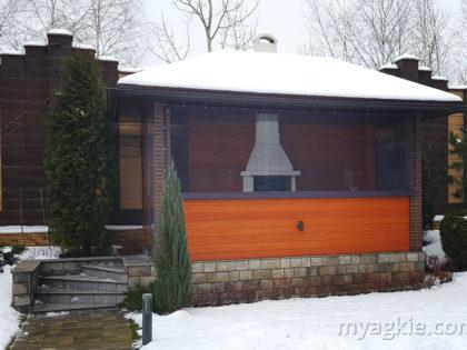 Мягкие окна для беседки в Одинцовском районе