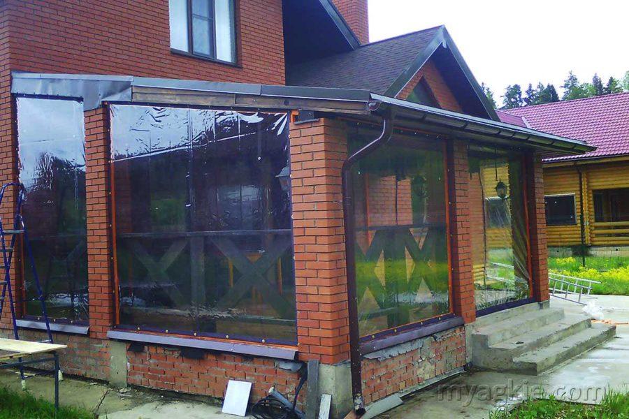 Мягкие окна для террасы в Дубках