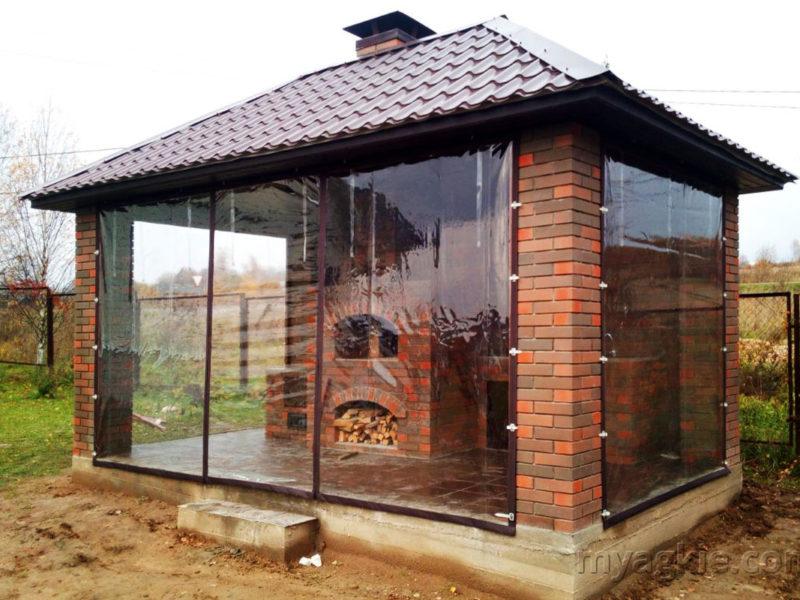 Мягкие окна для беседки в Можайске