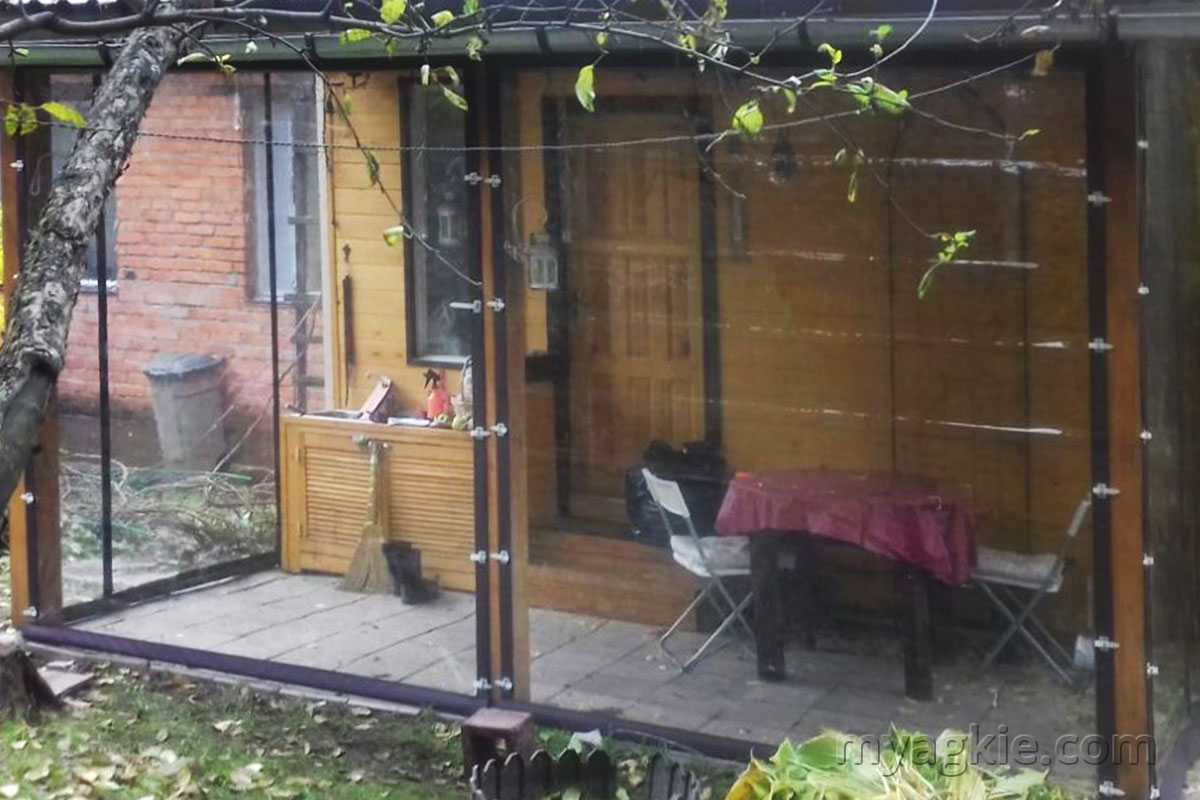 Мягкие окна для террасы в Дмитрове