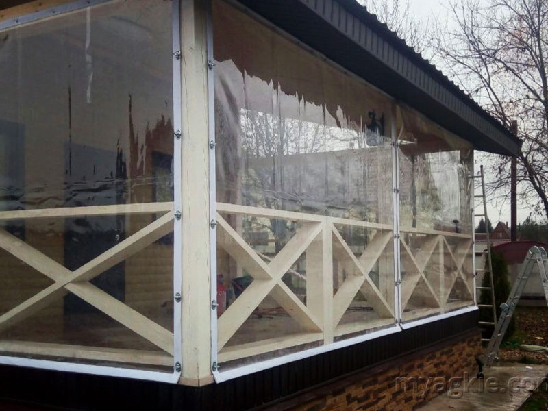 Мягкие окна для террасы в Сергиевом Посаде