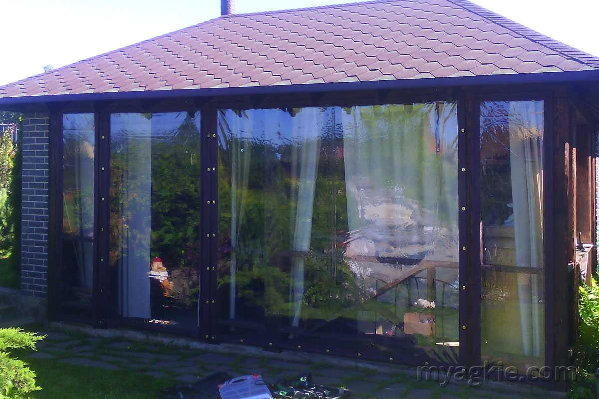 Мягкие окна для беседки в Звенигороде