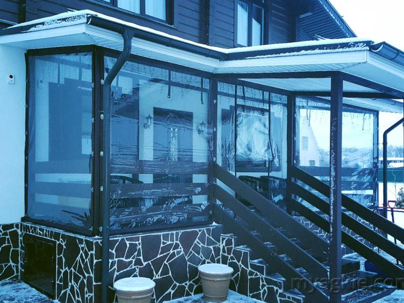 Мягкие окна для веранды в Ступино