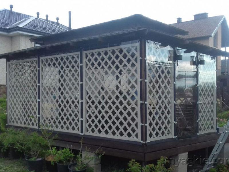 Мягкие окна для беседки в Дмитровском районе МО