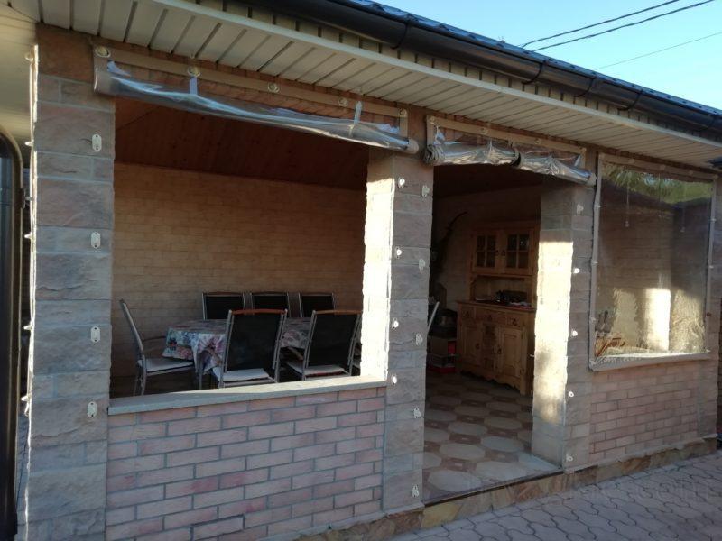 Мягкие окна ПВХ для летней кухни в Клину