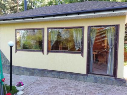Мягкие окна пвх для летней кухни — беседки  в Подольске