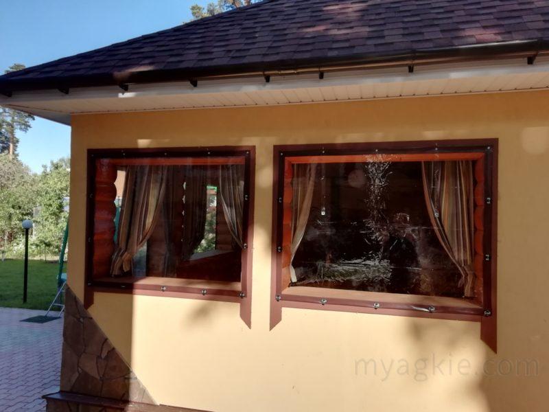 купить Мягкие окна пвх для летней кухни - беседки