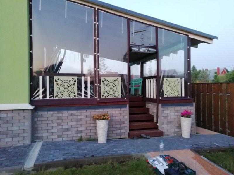 купить Мягкие окна для большой террасы из бруса