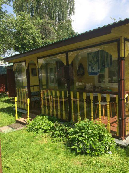 Мягкие окна для деревянной веранды