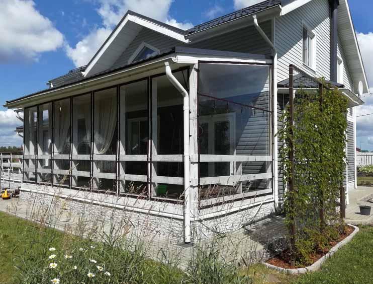 Мягкие окна для большой террасы