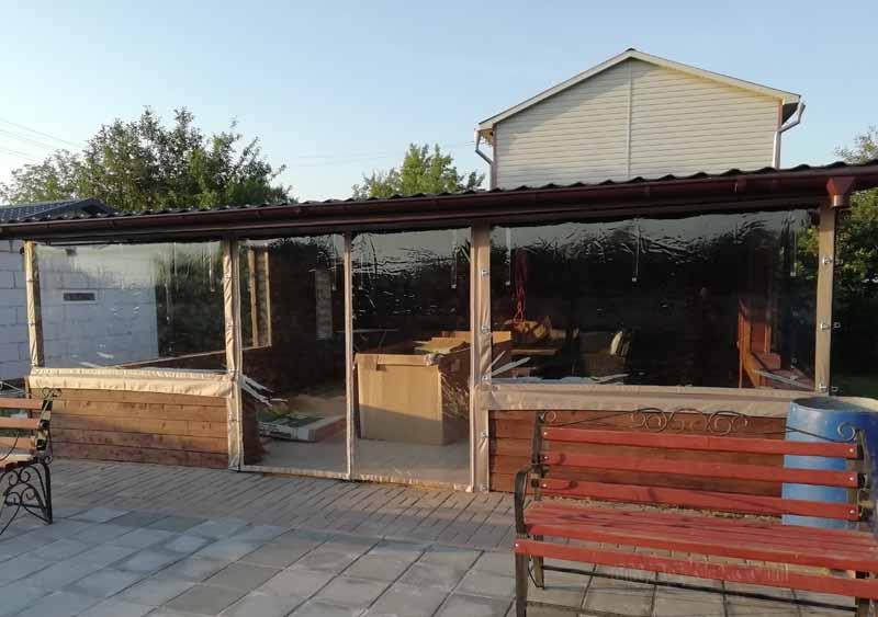 Мягкие окна для беседки в Щелково