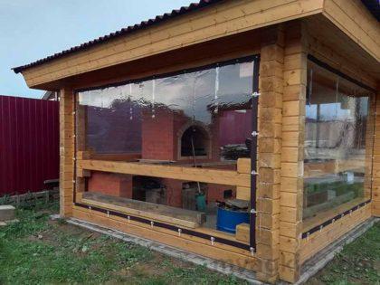 Мягкие окна для беседки в Коломне